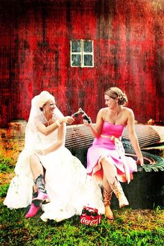 mine and my maid of honors wedding photo!!