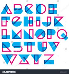 Find Geometric Type Blended Lines Shapes stock images in HD and millions of other royalty-free stock photos, illustrations and vectors in the Shutterstock collection. Thousands of new, high-quality pictures added every day. Alphabet Design, Typography Letters, Typography Poster, Creative Typography, Vintage Typography, Lettering Design, Logo Design, Design Resume, Type Design