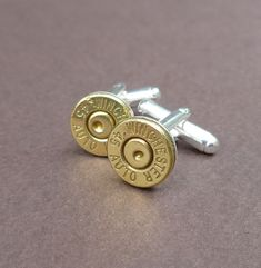 Groomsmen Gift - 45 caliber automatic Winchester bullet cuff links gift for him groomsmen gift cufflinks.