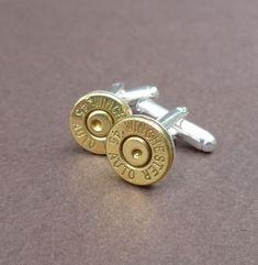 Groomsmen Gift - 45 caliber automatic Winchester bullet cuff links gift for him groomsmen gift cufflinks.