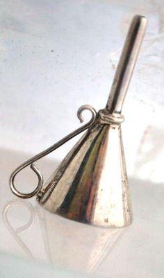 Sterling Silver Funnel for Perfume Bottle 4.1 grams