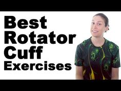 10 Best Rotator Cuff Exercises for Strengthening – Ask Doctor Jo These rotator cuff exercises are for the supraspinatus, infraspinatus, teres minor, & subscapularis, and many of the muscles around the shoulder. For pain relief … source Shoulder Rehab Exercises, Shoulder Stretches, Shoulder Workout, Rotator Cuff Stretches, Rotator Cuff Rehab, Shoulder Surgery, Shoulder Joint, Bursitis Hip, Shoulder Injuries