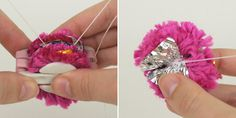 DIY crinkle pom pom