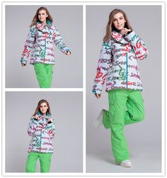 115.34$  Buy here - http://aliipw.worldwells.pw/go.php?t=32281435020 - New 2016 high quality white skiing jacket snowboarding jacket and pants waterproof women snow suit for women skiing suit sets
