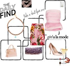 """""""The Daily Find - PRETTY IN PINK"""" by ourdesignpages ❤ liked on Polyvore"""