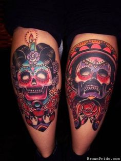 Mexican Day of the Dead Tattoos