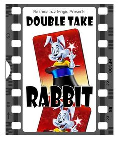 """""""DOUBLE TAKE RABBIT"""" is a card effect ideal for children's entertainers from http://www.razamatazzmagic.com/magicshop_001/products.php?Product=192&Title=Double_Take_Rabbit"""