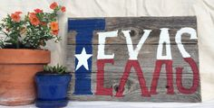 Proven Quality - Rustic style Medium Texas Flag Sign using recycled / salvaged wood on Etsy, $30.00