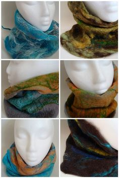 beautiful cowls by Nesse on Craftster