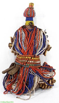 Fali Fertility Doll Cowrie Shells and Trade Beads Cameroon African 64649 on Etsy, $295.00