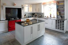 The Aga stove makes this kitchen great.
