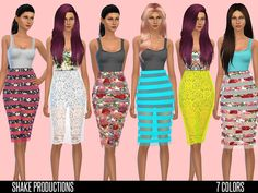 Designer dress with transparent skirt by ShakeProductions at TSR • Sims 4 Updates