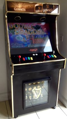 Recently Completed Guinness Arcade Retropie Arcade, Bartop Arcade, Retro Arcade Games, Arcade Game Machines, Arcade Machine, Arcade Control Panel, Arcade Cabinet Plans, Mame Cabinet, Retro Pi