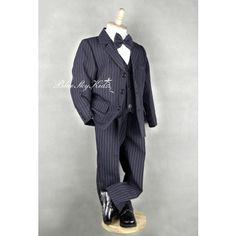 Boys Formal Suit Set Size 000 – 6 Navy Pin Stripe Great for Formal Occasions, Weddings, Communions and other special functions Boys Formal Suits, Communion, Normcore, Navy, Pants, Fashion, Hale Navy, Trouser Pants, Moda