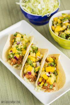 Slow Cooker Hawaiian Chicken Tacos W/Pineapple Orange Salsa Recipe