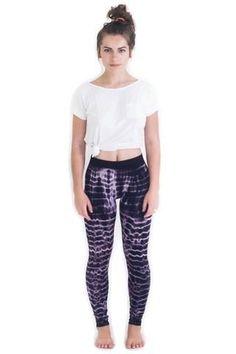 A huge selection of super soft Tie Dye Leggings. Tie Dye Leggings, Silk Chiffon, Tank Dress, Lounge Wear, Mini Skirts, Pajama Pants, Stripes, Purple, Fabric