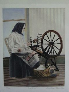 Items similar to Number Anna Eliina at Spinning Wheel. on Etsy Spinning Wheels, Spinning Yarn, Hand Spinning, Lost Art, Historical Pictures, European Travel, Femininity, Female Art, Yarns