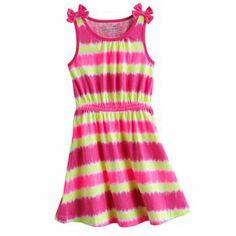 Jumping Beans Striped Tie-Dye Dress - Girls 4-7 #Kohls