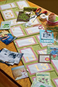 DIY Advent Calendar - Add Photos, Poems, Recipes, Artwork, and Momentos. Great to give as a gift already customized to the recipient, or give early so the family can make its own! Can be updated every year, or kept the same to become a family heirloom.