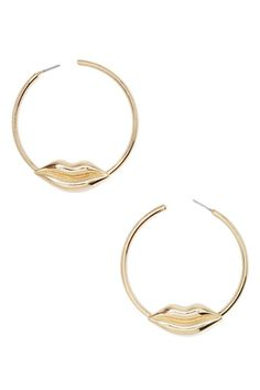 Lip Service Hoop Earrings | Shop What's New at Nasty Gal