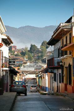 Lovely street in San Cristobal de las Casas, Mexico