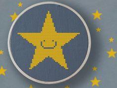 Cheerful Star Cross Stitch Pattern