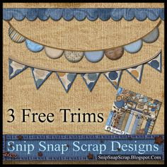 Snip Snap Scrap: 3 Free Digital Scrapbook Boy Trims