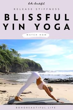 A blissful yin yoga class to let go of stress/anxiety while releasing hip pain and hamstring stiffness.   Yoga Poses for Beginners   These types of Boho Beautiful yoga practices are also a gentle and easy way to reconnect to your breath and find a moment to still the mind.   Stress Relief   Yoga Routine     Juliana Spicoluk Yoga Teacher   Boho Beautiful #yoga #workout #fitness #exercise #yinyoga