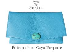 #pochettebijoux #frenchtouch #madeinfrance #pochette #turquoise  #sestra #sestraparis // Sestra Turquoise Clutch // Made in France with Love
