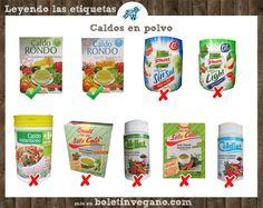 Si hay algo dificil de encontrar en los supermercados son caldos veganos. Más info en www.boletinvegano.com