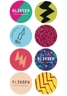 Nothing wrong with a nice sticker. Wright? These were made by Martijn van Egmond for BLIKSEM magazine.