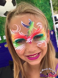 Marcela Bustamante || fairy mask Face Painting Unicorn, Mask Painting, Adult Face Painting, Painting For Kids, Body Painting, Airbrush Makeup, Face Painting Designs, Body Makeup, Interesting Faces