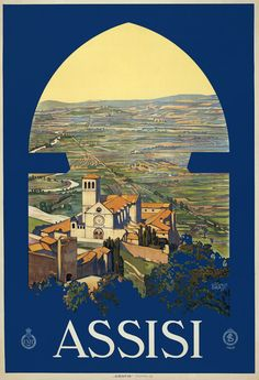 A view of Assisi, Italy, looking out the window of a tower. Vittorio Grassi, c. 1920. $15