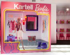 Barbie 50th anniversary - Kartell - Salone del Mobile, shop window / vetrine