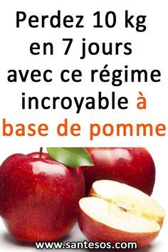 Lose 10 kg in 7 days with this incredible apple-based diet - Beauté - Régime Apple Diet, Sport Diet, Full Body Detox, Before And After Weightloss, 1000 Calories, Detox Drinks, Diet And Nutrition, Healthy Life, Health Tips