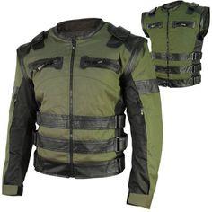 Save $ 90 order now Xelement Asylum Mens Green/Black Textile Jacket – Larg