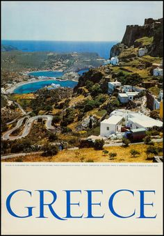 Greece Travel Poster (National Office of the Greek Tourism, Tourism Posters X - Available at Sunday Internet Movie Poster. Impression Etiquette, Old Posters, Greek Royal Family, Plane Photos, Valence, Vintage Travel Posters, Poster Vintage, Original Travel, Pineapple Images