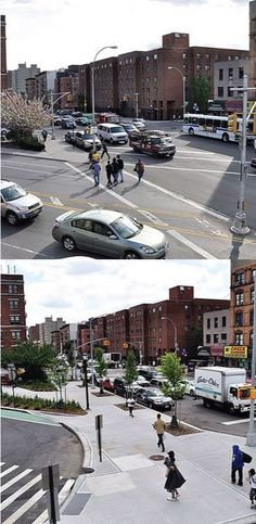 Before and After: St Nicholas Ave & Amsterdam Ave, NYC. Click image for full story and visit the slowottawa.ca boards >> http://www.pinterest.com/slowottawa/