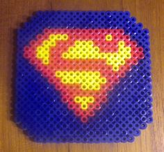 Items similar to Perler Beads Drink Coaster (Superman Logo) on Etsy Hama Coaster, Coasters, Bead Crafts, Arts And Crafts, Teen Activities, Rainbow Loom Tutorials, Superman Logo, Pearler Beads, Bead Shop
