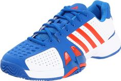 Santas Tools and Toys Workshop: Shoes: adidas Men's Barricade Team 2 Tennis Shoe,Running White/High Energy/Prime Blue,6.5 M US