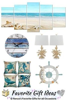 Beach Gift Ideas For Ocean Lovers. Find the perfect gift with these coastal gift ideas. Diy Holiday Gifts, Family Christmas Gifts, Gifts For Family, Housewarming Gifts For Men, Diy Best Friend Gifts, Beach Gifts, Beach Ideas, Ocean, Gift Ideas