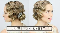 Here's an easy way to learn how to finger wave with a curling iron + get a great 1920s hairstyle for your Halloween costume!                                                                                                                                                                                 More