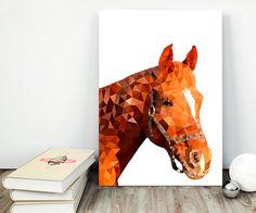 70% OFF SALE / Horse / Geometric Horse / Horse by NeedForPrint