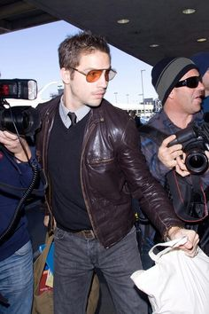 Logan Logan Marshall Green, Casual Wear, Homecoming, Spiderman, Leather Jacket, Sexy, How To Wear, Jackets, Fashion