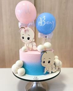 Baby Shower Cakes Neutral, Idee Baby Shower, Elephant Baby Shower Cake, Baby Shower Deco, Fiesta Baby Shower, Baby Cakes, Baby Reveal Cakes, Gateau Baby Shower, Baby Shower Cupcakes
