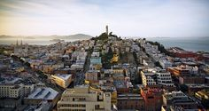 """I took this picture at sunset from the fire escape of a Chinatown hotel, looking toward Coit Tower."" (From: Eight Perspectives on San Francisco)"