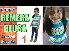 Remera blusa de verano varios talles - Tejido crochet Paso a Paso (1 de 3) - YouTube