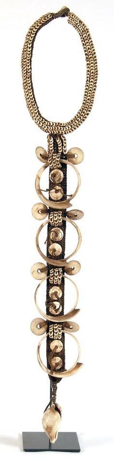 Papua ~ Indonesia   Ceremonial necklace   Shells, fiber, tucks   720ZAR