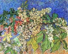 """Vincent van Gogh, """"Blossoming Chestnut Branches"""", 1890"""