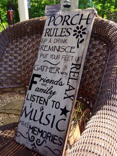 Large+Porch+Rules+Sign.+Hand+painted+and+by+TheVintageHammer,+$45.00